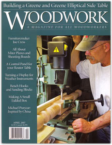 Logan Creek Designs, was featured in the popular woodworking magazine ...